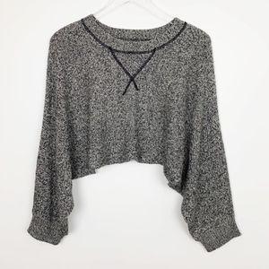 Aiko Cashmere Blend Sweater Knit Crop Top